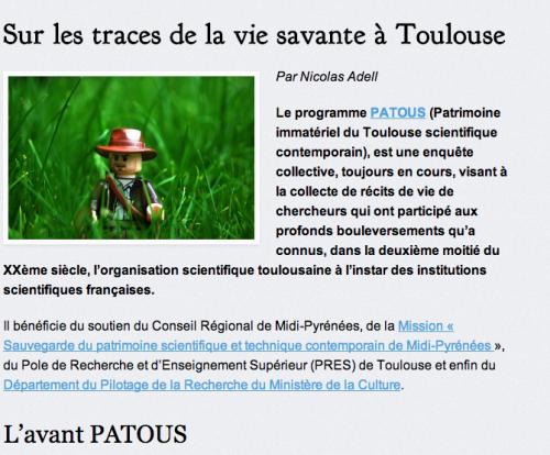"""Illustration de l'article """"Sur les traces de la vie savante à Toulouse"""""""