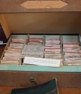 Fichiers des Toulousains constitué par Philippe Wolff – vers 1946 – à partir des registres de taille (fin XIVe - début XVe s.).